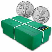2021 1 Oz American Silver Eagle Bu Type 2 Monster Box Of 500 Coins