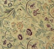 Vintage 4 Yards Soft Chenille Floral Fabric French Country Garden