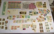 Commemorative Us Stamp Collection Uncanceled New Mint 1950s-1960s + Some Cancel