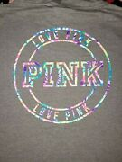 New Victoria's Secret Pink Campus Pullover Hoodie Extra Large Xl Vs Hard To Find