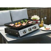 Tabletop Portable Griddle Gas Grill Outdoor Cooking Bbq 3 Burner Camp Food Truck