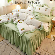 Princess Style Bedding Set 3pc Or 4pcs Bed Skirt Cover Set Women Bed Set 2020new