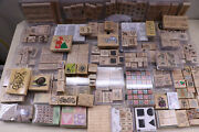 330 + Pc. Stampin' Up Rubber / Wood Craft Stamps Mixed Themes Scrapbooking