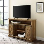 Universal Farmhouse Barn Door Tv Stand For Tvs Up To 58 Barn-wood