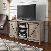 Universal Modern Farmhouse Tv Stand For Tvs Up To 70 Entertainment Center Gray