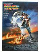 A3 Back To The Future Poster Signed By C Lloyd And M J Fox Black Pen 100 + Coa