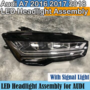 For Audi A7 Led Headlight Assembly 2016 2017 2018 S7 Right Headlamp Used Oem