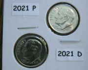 3 Sets-2021 Bu Pandd Roosevelt Dimes Taken From Bank Rolls- Ready To Ship Today