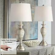 Arden Brushed Nickel Lamps Set Of 2 With Table Top Dimmers