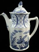 Furnivals Old Chelsea Blue Blue Birds Flowers Coffee Pot Great Condition