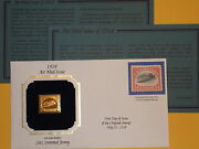 22k 1918 24 Cent Airmail Inverted Jenny Stamp Special Replica Gold Proof