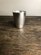 Rare Vintage Sterling Silver Shot Glass With Bowler By Boardman 214