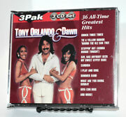 Tony Orlando And Dawn 36 All-time Greatest Hits 3 Cd Set - Fat Box - Hard To Find