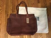 Duluth Trading Co. Lifetime Leather Tote Unlined Brown Extra Large Nwt New
