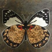 Big Iron On Sequin Butterfly Patch