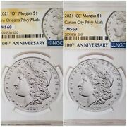 2021 Morgan Dollar Cc And O Privy Ngc Ms69 First Releases Both Coins