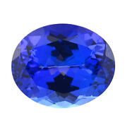 Aaaa Blue Tanzanite Loose Gemstone Oval Shape Faceted For Jewelry Making Ct 4.20