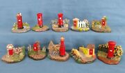 British Post Box Collection Jez Crooks Pieces Number 1 To 10 Complete Handmade