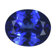 Aaaa Blue Tanzanite Loose Gemstone Oval Faceted For Jewelry Making Ct 4.5