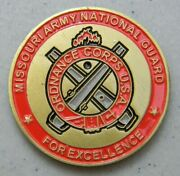 Missouri Army National Guard Military Challenge Coin Battle Ready Support New