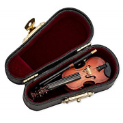 Tiamu Miniature Violin Mini Musical Instrument Wooden Model With Stand Case Tiny