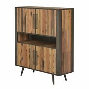 Modern Rustic Double Decker Accent Cabinet