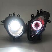 White Angel Red Devil Eyes 9-16v Headlight Hid Projector For Bmw S1000rr 09-14