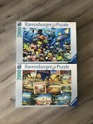 Lot Of 2 - 2000 Piece Ravensburger Jigsaw Puzzles - Complete