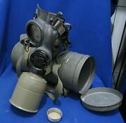 Czech Wwii Army Chema Gas Mask+canister