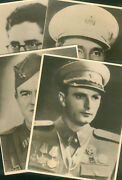 Yugoslavia Serbia Lot 4 Large Peopleand039s Heroes Photos With Biography