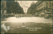 French 1919 Victory Day Serbian Army Marches Postcard
