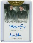 2016 Game Of Thrones Season 5 Autograph Sophie Turner And Aidan Gillen