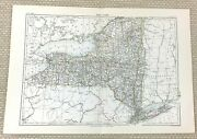 1878 Antique Map Of New York State Ny The United States Of America Usa
