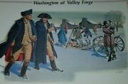 George Washington At Valley Forge Kneeling In Prayer 1977 13 Cent Stamp And Print
