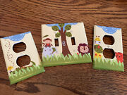Custom Light Switch Cover And Wall Outlet Covers - Baby Nursery Safari Animals