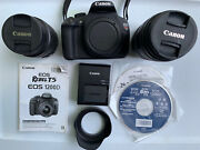 Canon Rebel T5 / Eos 1200d 18mp Dslr Camera Kit W/18-55mm And 75-300mm Zoom Lens,