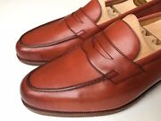 Edward Green And039dukeand039 Penny Loafer Redwood Tan 9/9.5 E With Eg Shoe Trees 1400