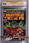 Special Marvel Edition 15 Master Of Kung Fu, Cgc 9.0 Vf/nm 1st App Shang Chi Ss