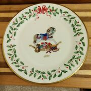Lenox 1992 The Annual Holiday Collector's Plate Second In Series Rocking Horse