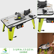 Ryobi Universal Router Table Corded Adjustable Fence Built-in Vacuum Port