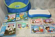 Leap Frog Little Touch Leap Pad Learning System Carry Case 8 Cartridges And Books