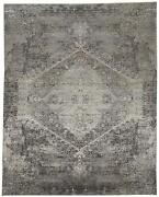 Feizy Sarrant Collection Area Rug Smoke 7and039-10 X 9and039-10