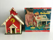 Vintage Fisher Price Little People Play Family School House 923