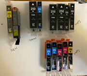 Lot - Two New 251 Xl Yellow Ink Cartridges + 14 Opened Or Empty 250 See Photos