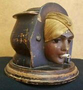 Vintage 1920and039s Flapper Cigarette Dispenser Tobacco Collectible