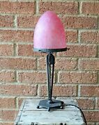 French Art Deco Table Lamp, Manner Of Charles Schneiderpate De Verre Glass