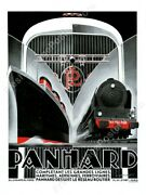 1932 Panhard Car Ss Normandie Great Art Deco Plane Train Ad New Poster 18x24