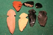 Collection Of 6 Genuine Neolithic Arrowheads , Prehistoric, Stoneage