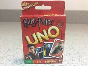 Harry Potter Uno Card Game Mattel 40th Anniversary Collectors Edition New/sealed