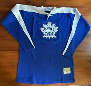 Vintage Med Stall And Dean Throwback Toronto Maple Leafs Hockey Jersey Sweater